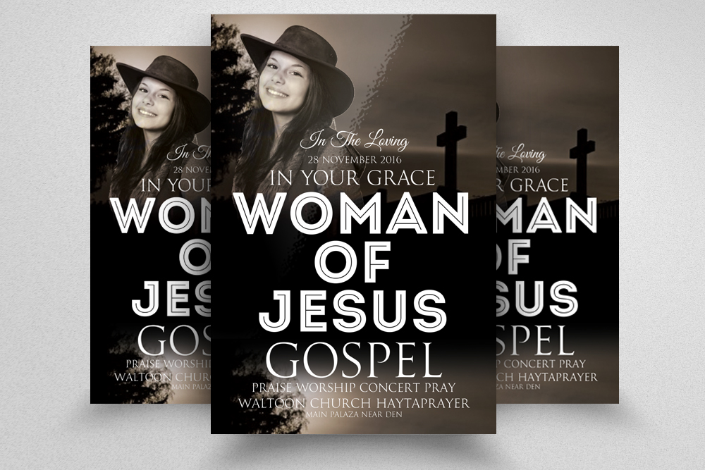 Glory and Praise Church Flyer Template example image 1