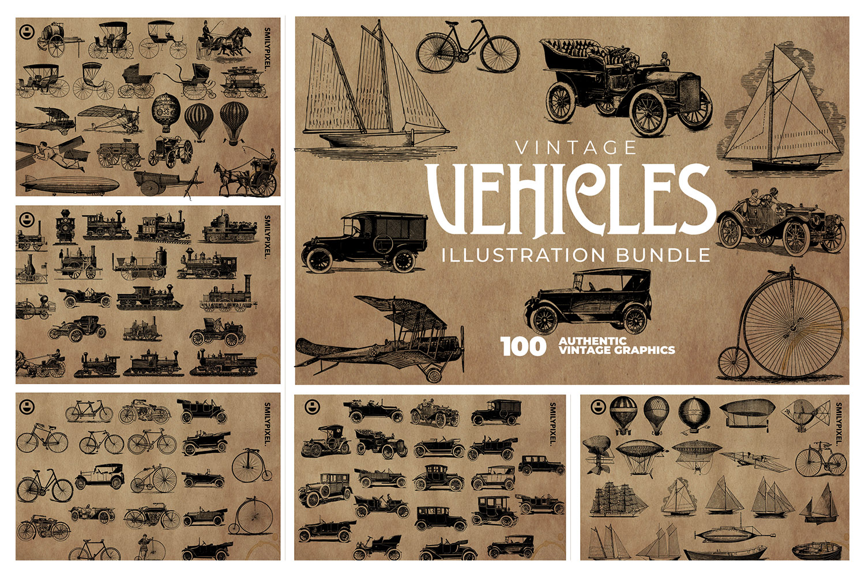2200 Vintage Graphics Bundle example image 17