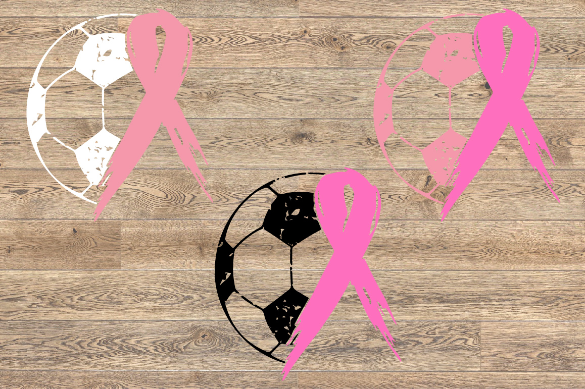 Soccer Tackle Breast Cancer Svg Awareness ribbon 1068s example image 3