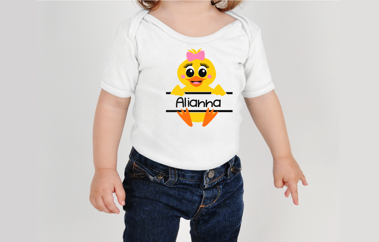 Baby Duck Personalize Design GIRL - An Easter SVG example image 2