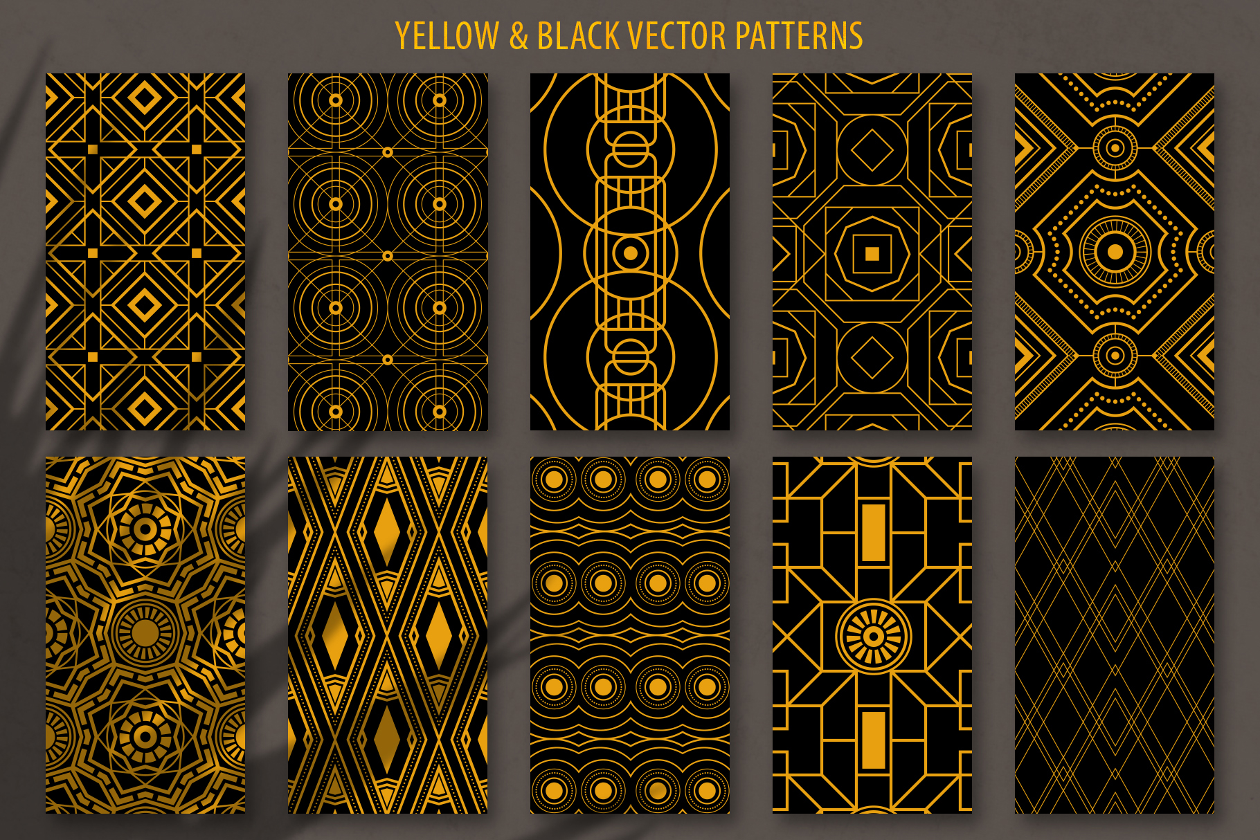 Geometric Art Deco Patterns - 20 Seamless Vector Patterns example image 7