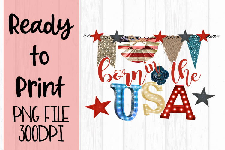 Born in the USA Ready to Print example image 1