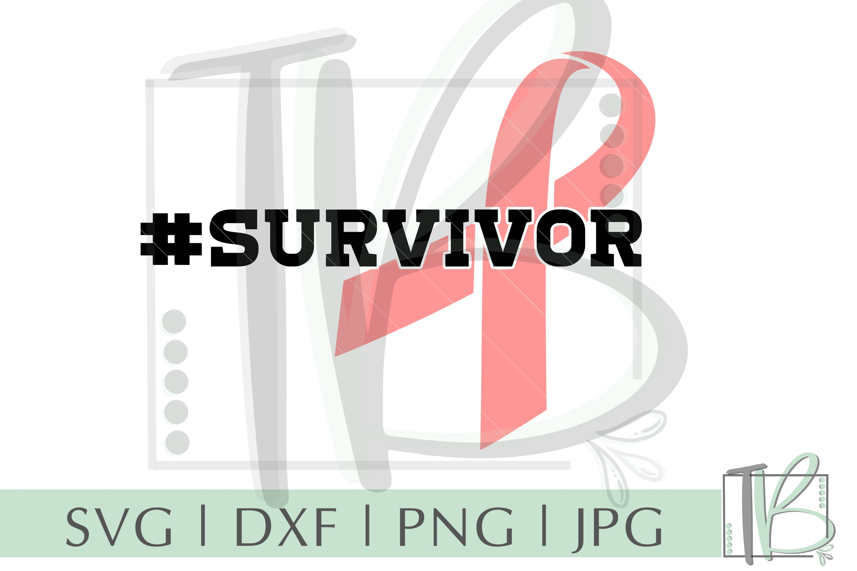 Breast Cancer SVG, Survivor SVG example image 2