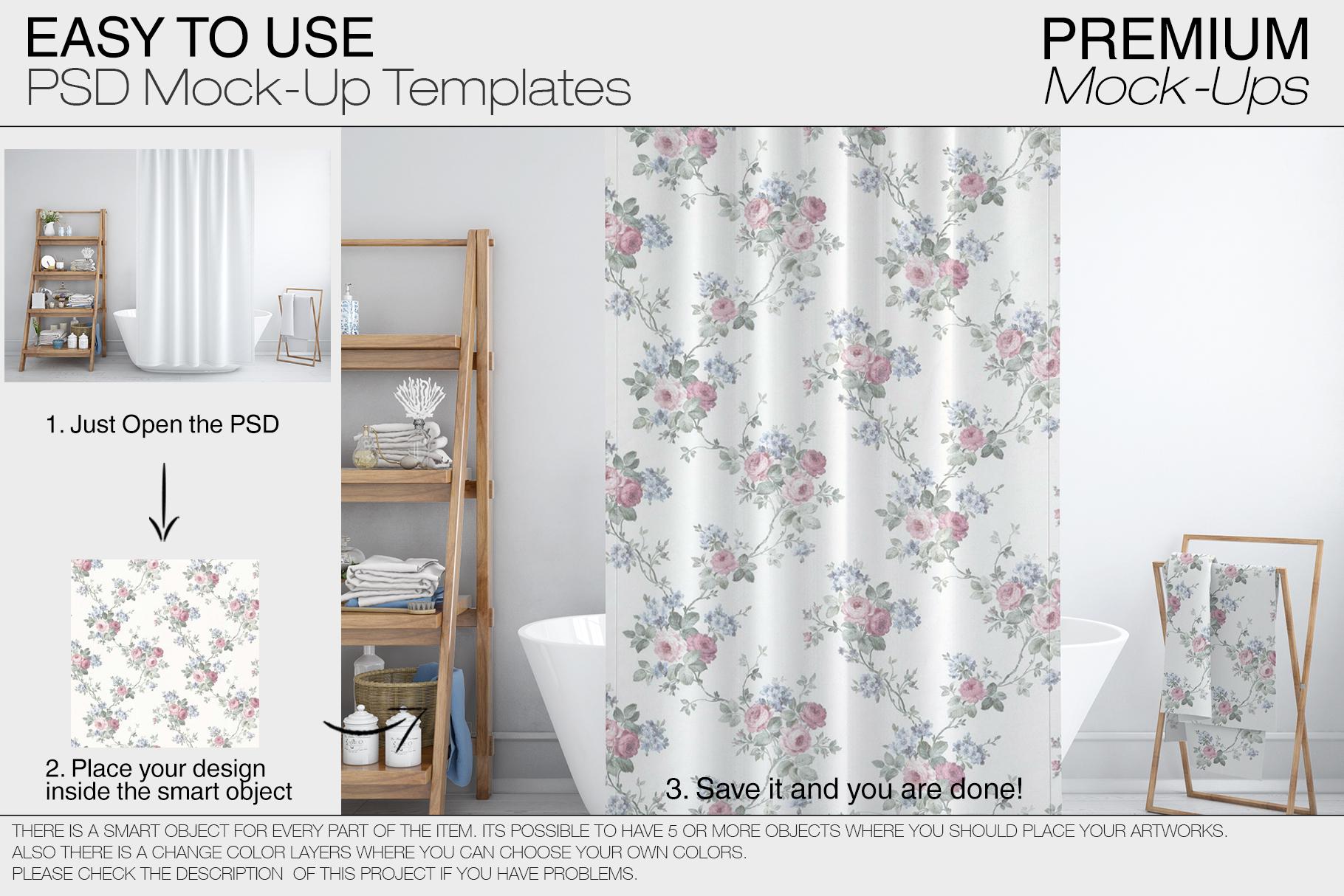 Bath Curtain Mockups example image 9