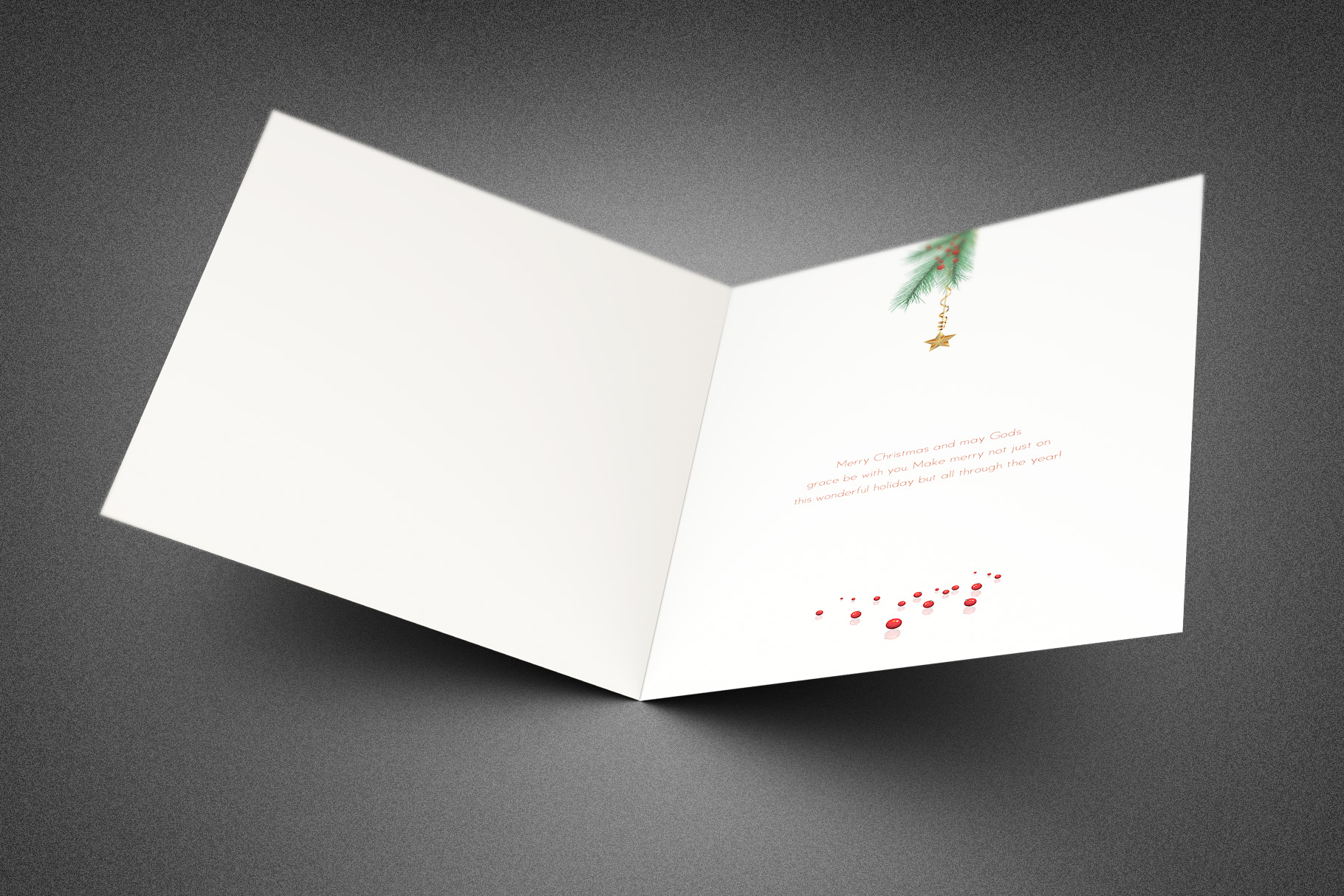 Merry Christmas Greeting Card example image 2