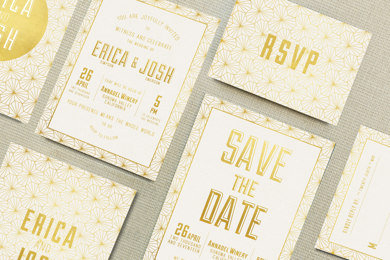 Elegant Geometric Wedding Invitation example image 1