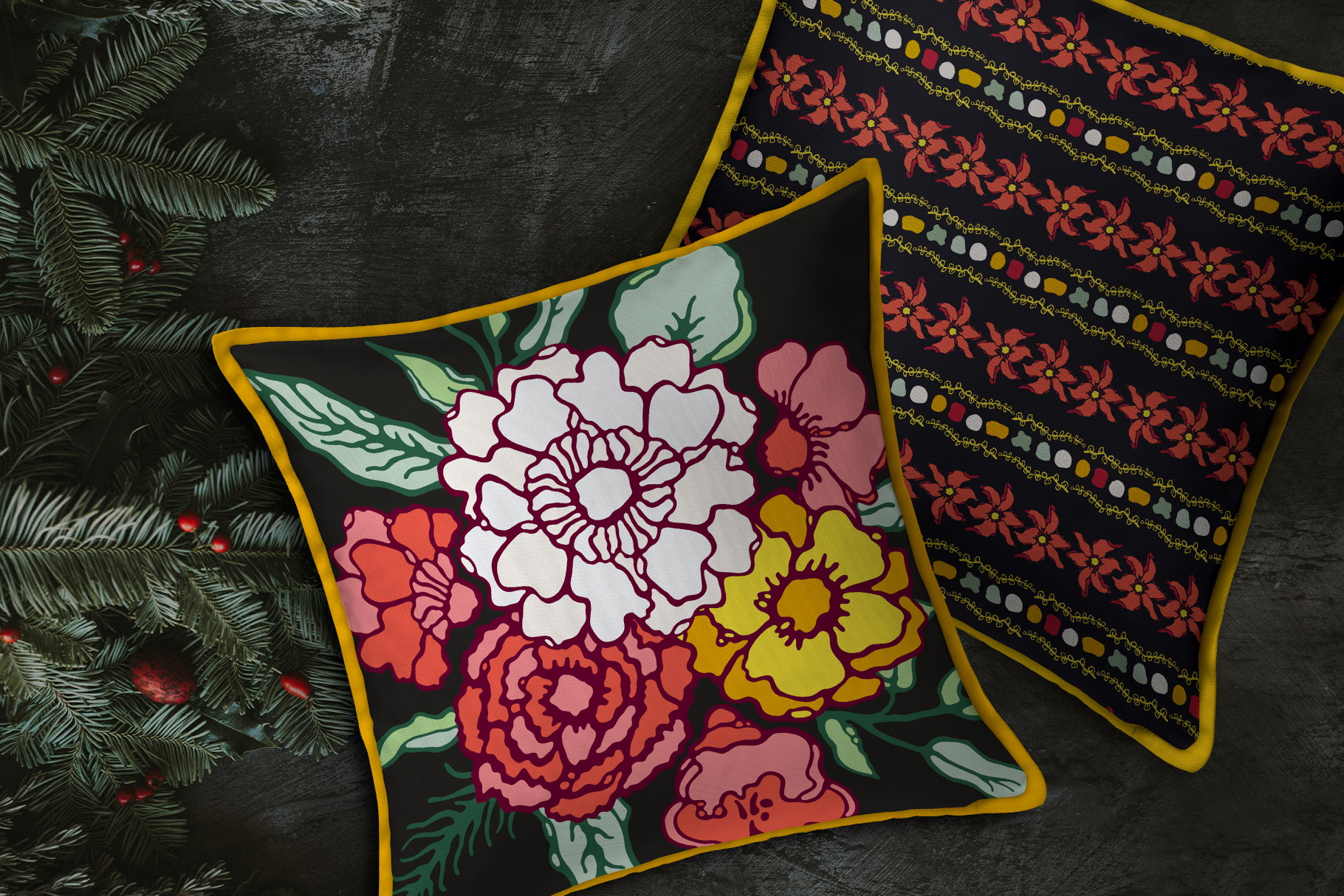 Winter Floral Patterns & Illustrations example image 5