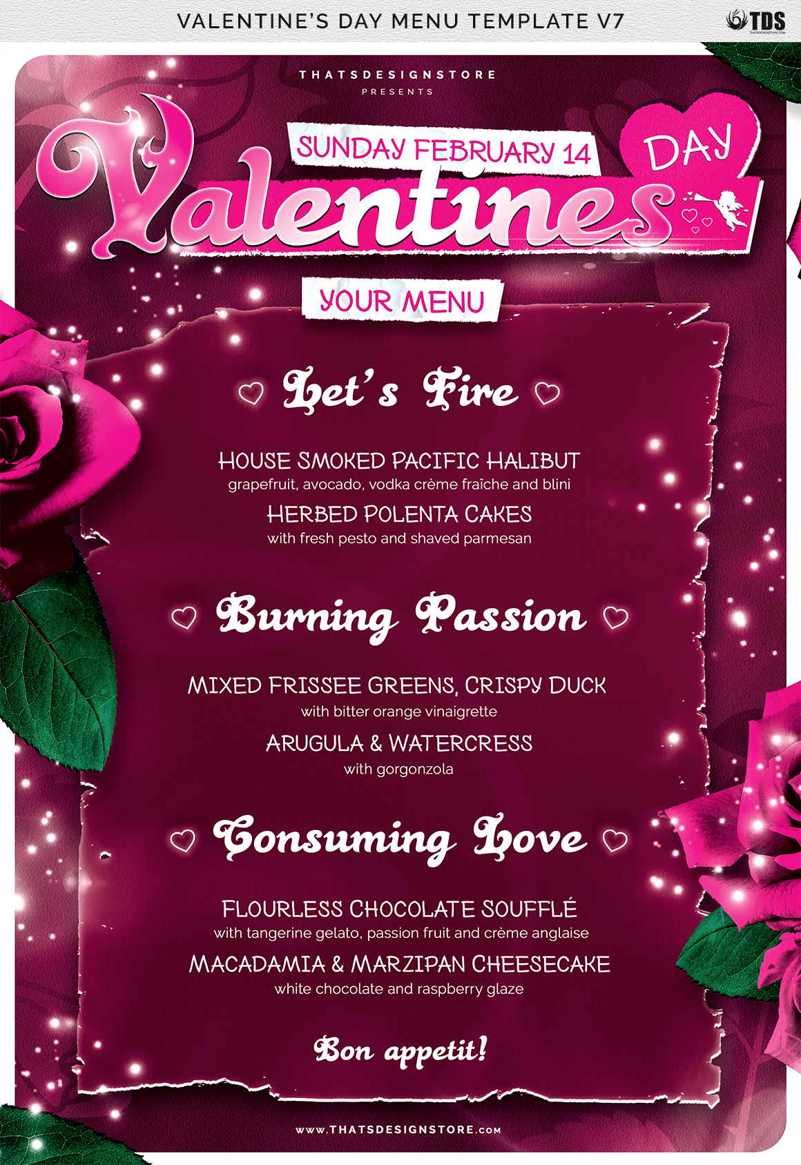 Valentines Day Menu Template V7 example image 7