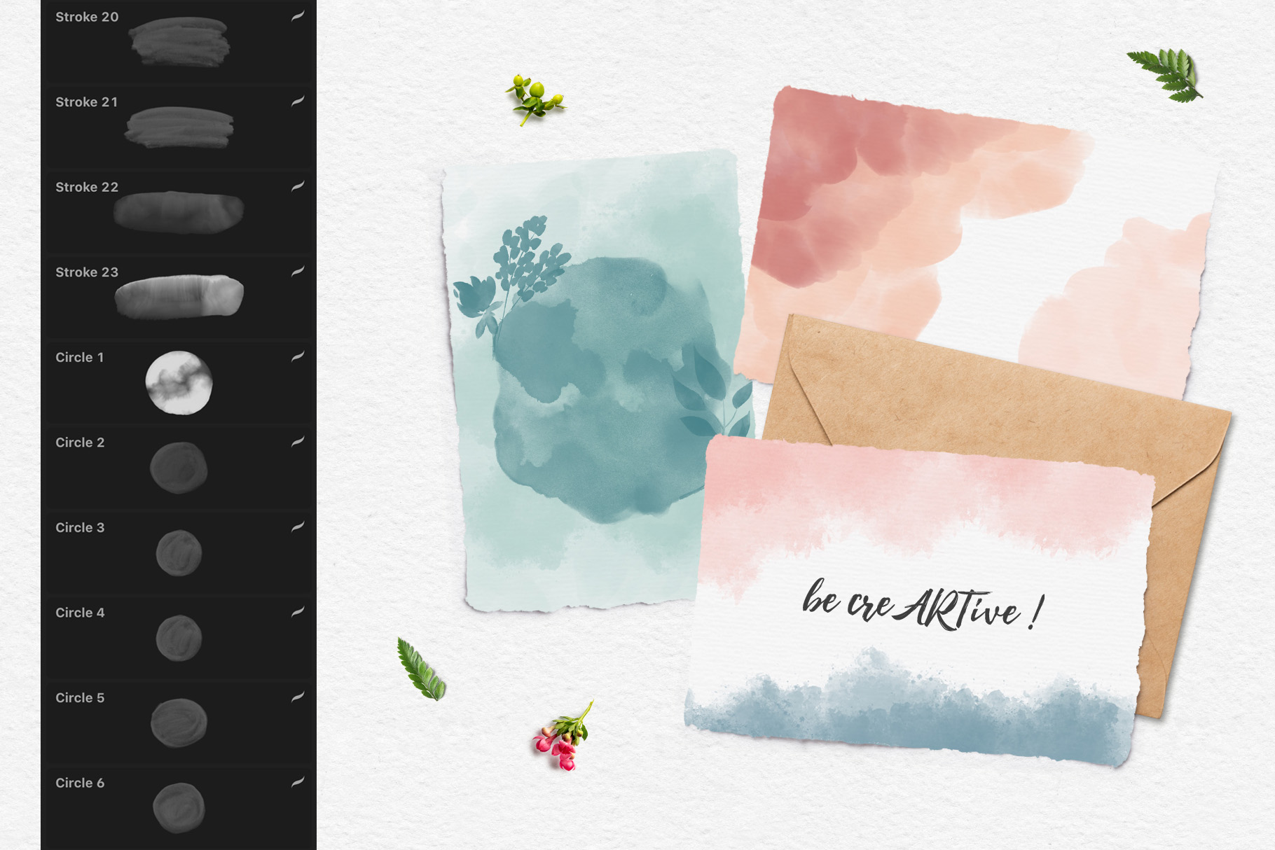 244 Watercolor Brushes For Procreate example image 12