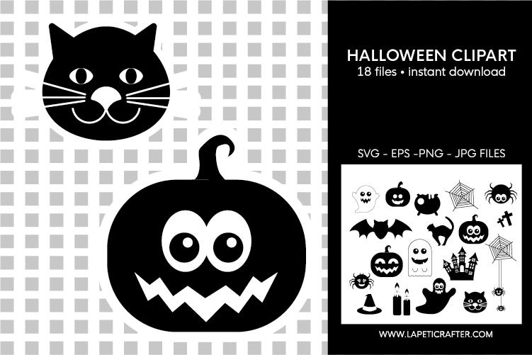 Halloween silhouette, halloween black clipart, digital stick example image 7