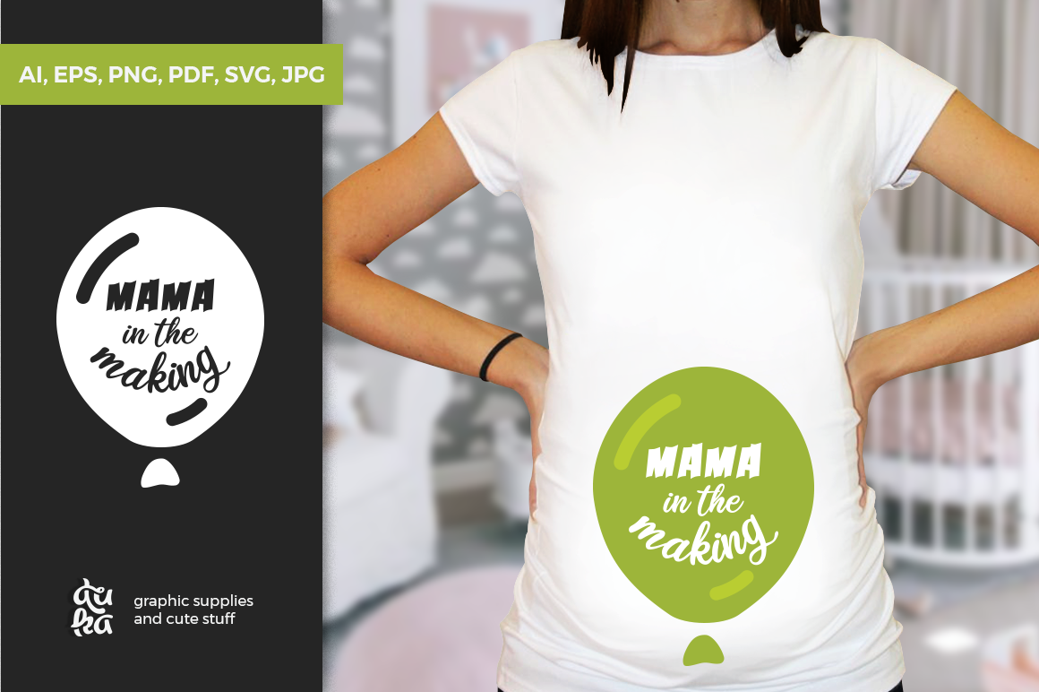 Pregnancy Announcement SVG Cut Files - Mama in the making example image 1