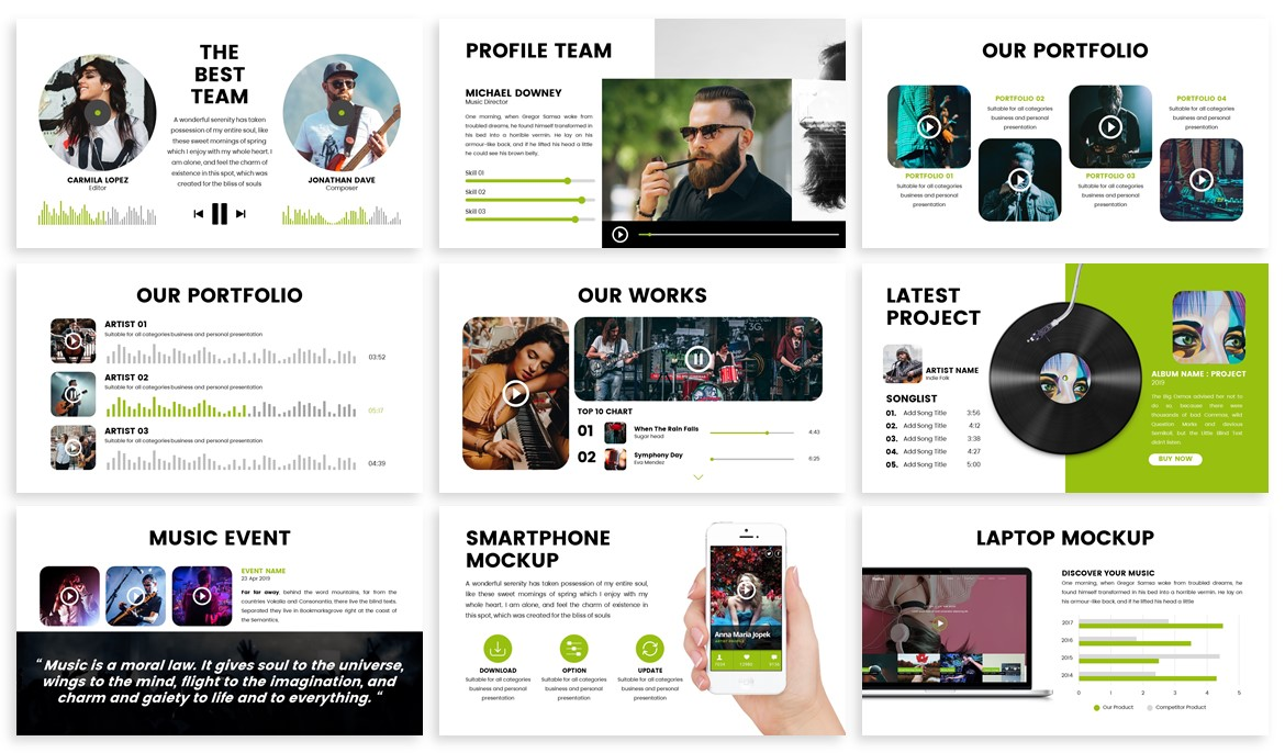Stream - Music Powerpoint Template example image 3