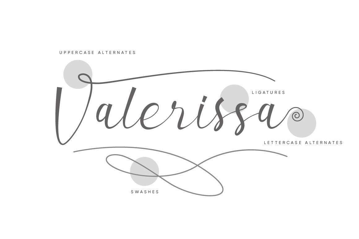 Valerissa Script example image 9