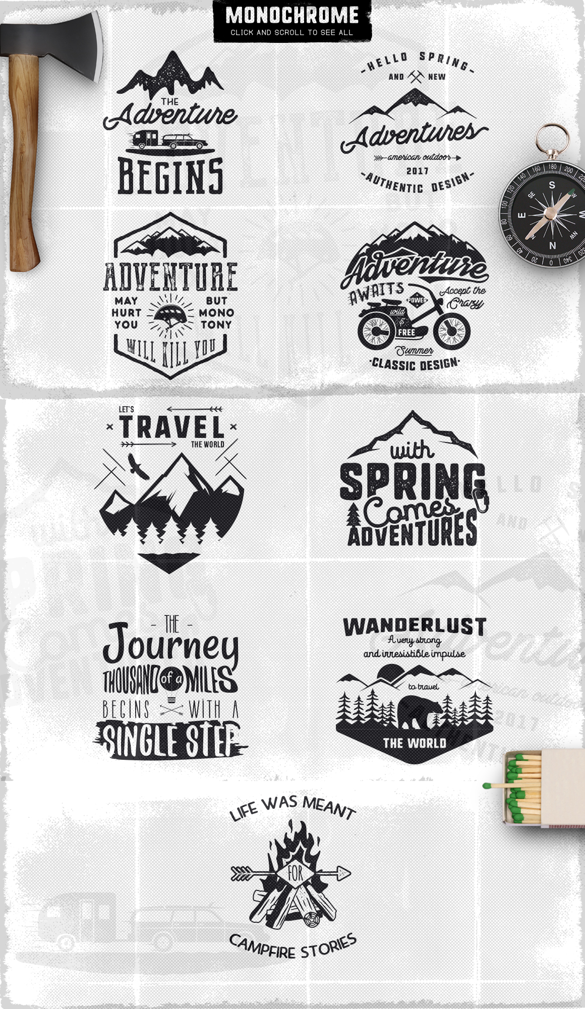 Spring Adventure Motivational Labels example image 5