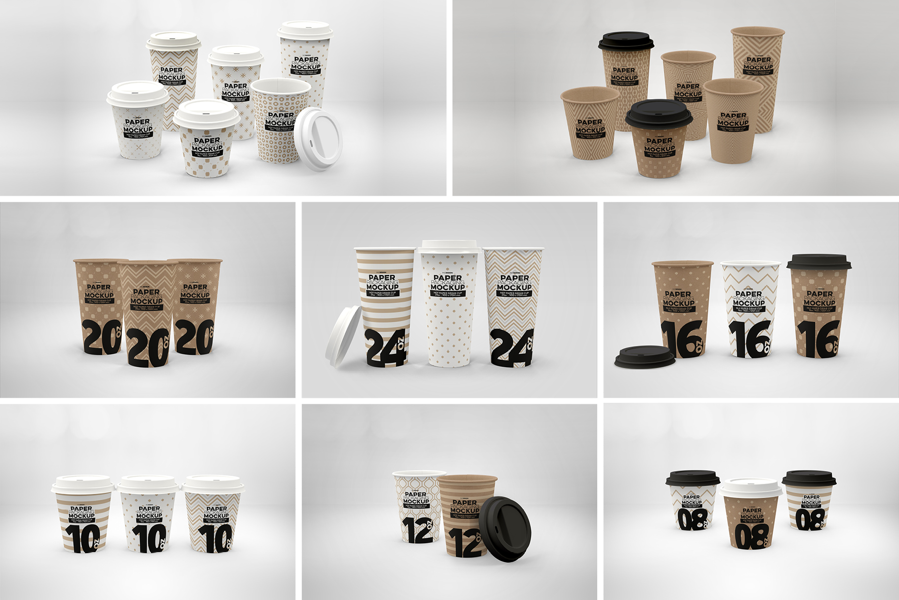Paper Hot Drink Cups Packaging Mockup example image 2