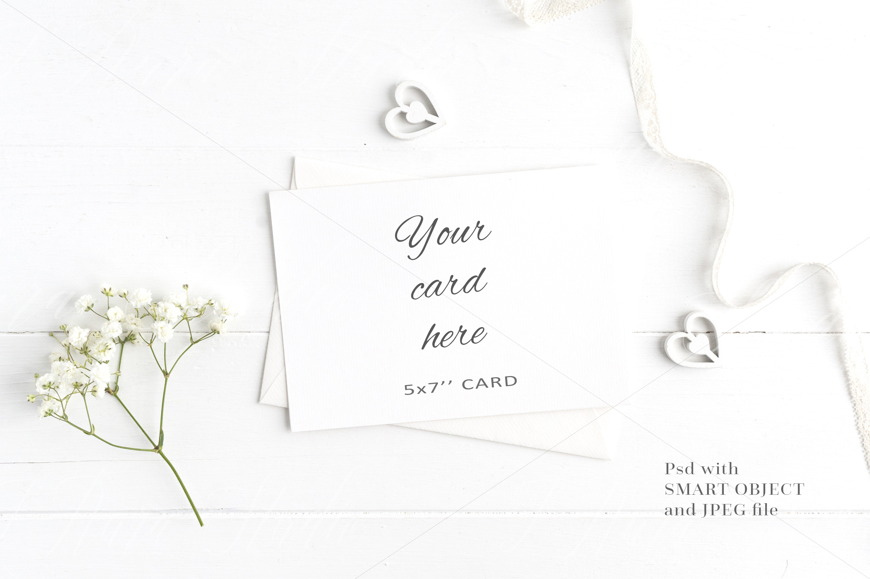 Floral 5x7 Card Mockup - crd213 example image 1