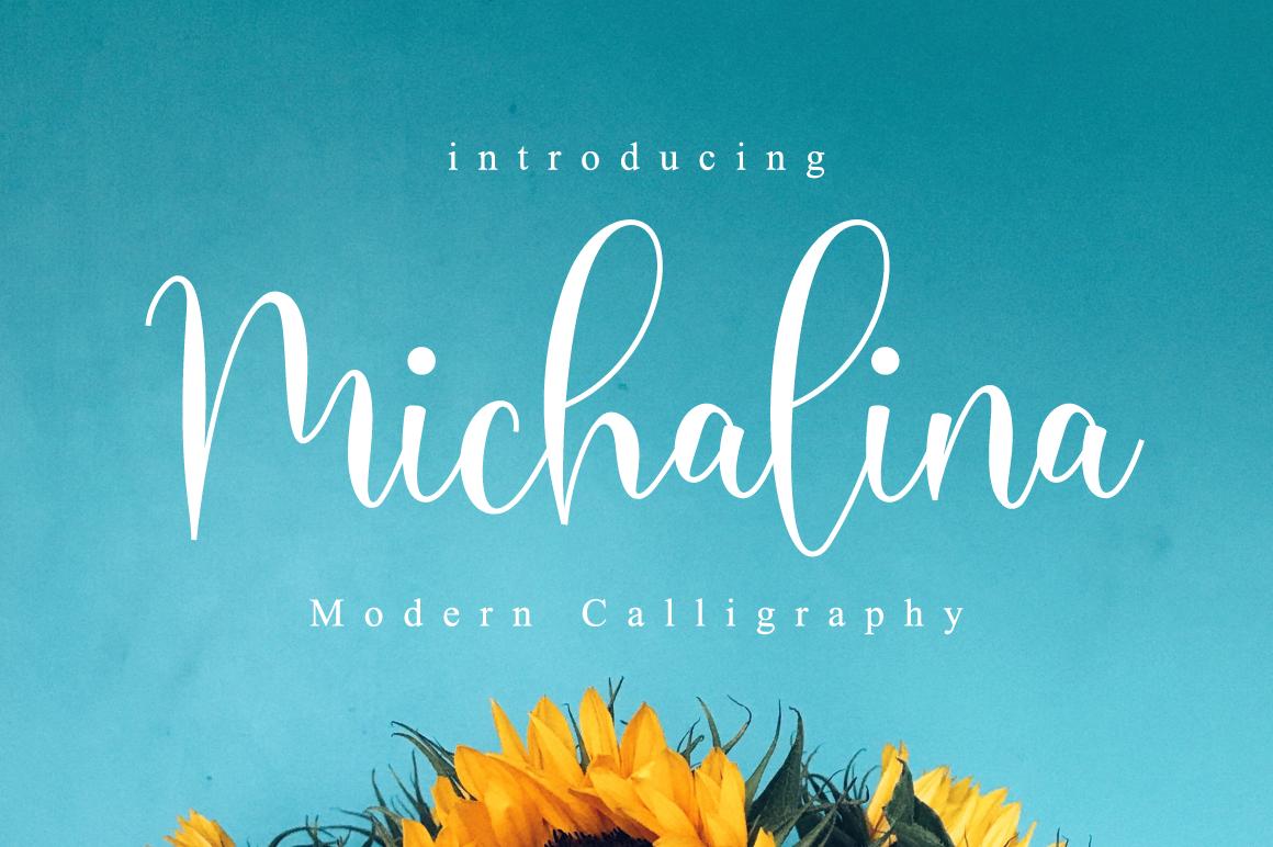 Michalina Script example image 1