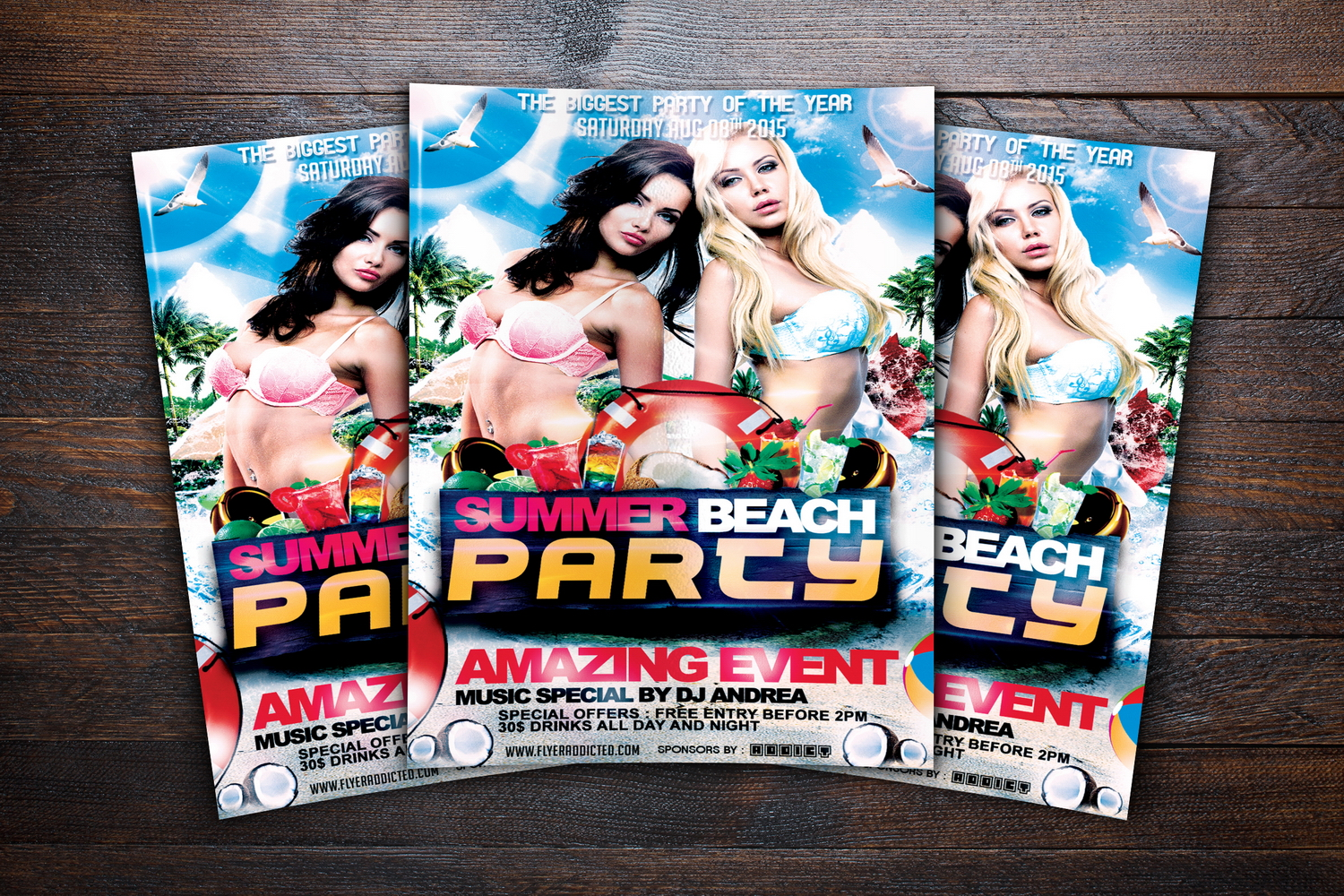 Summer Beach Party Flyer example image 3