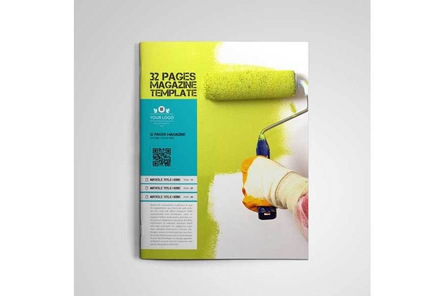 32 Pages Magazine Template example image 2