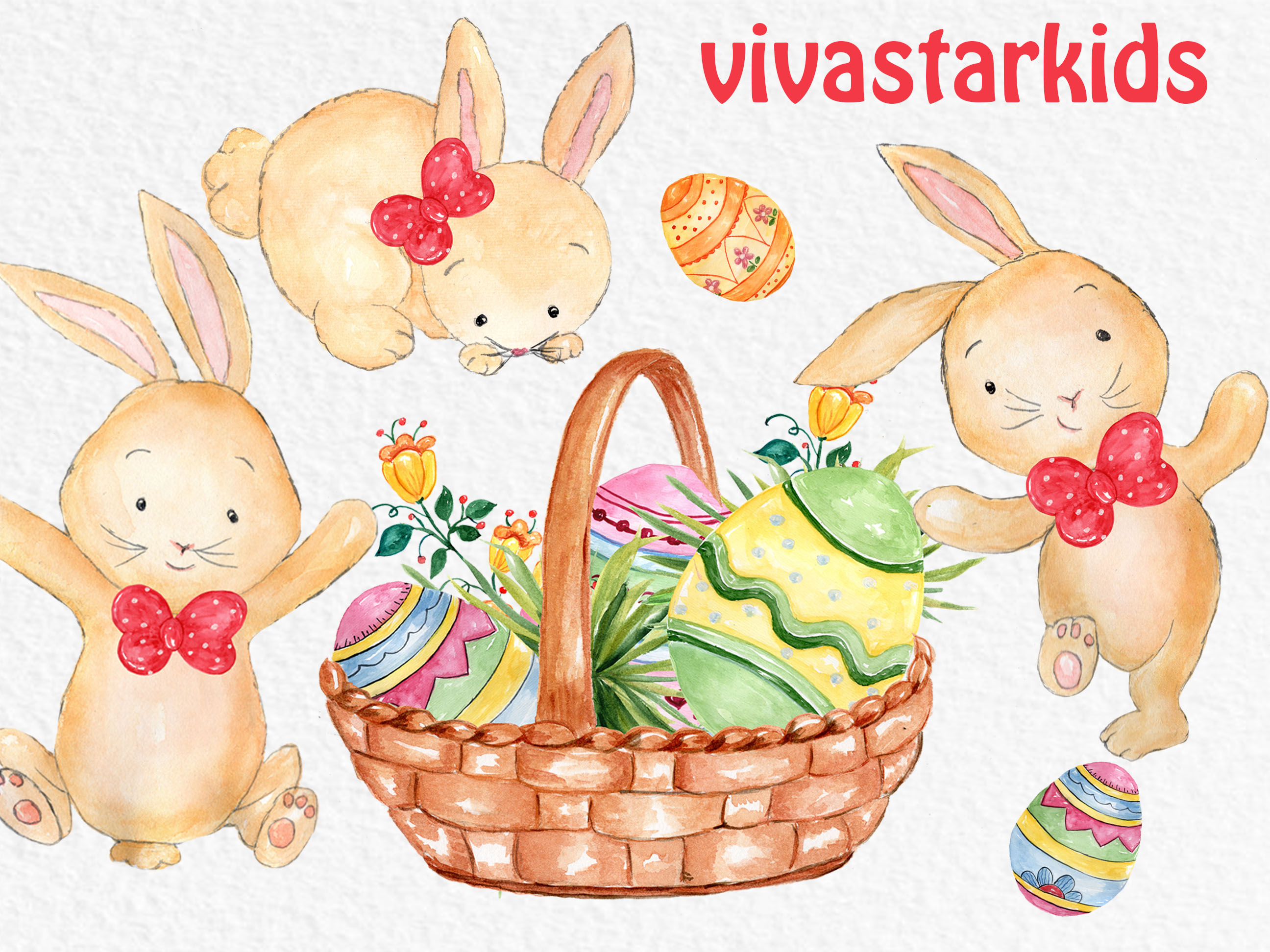 Watercolor Easter clipart example image 6
