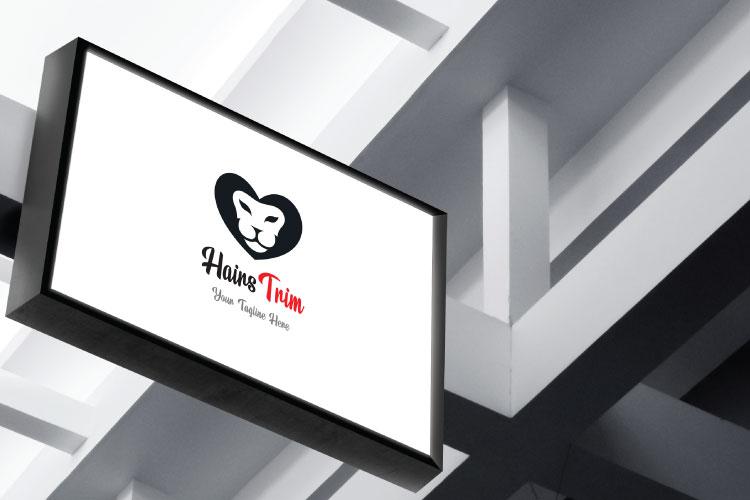 Saloon Heart Shape Logo example image 3