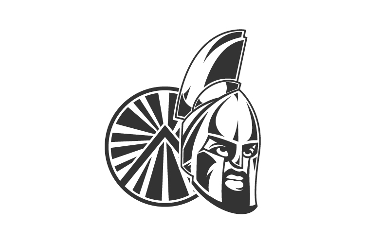 Spartan Warrior Helmet Logo example image 1