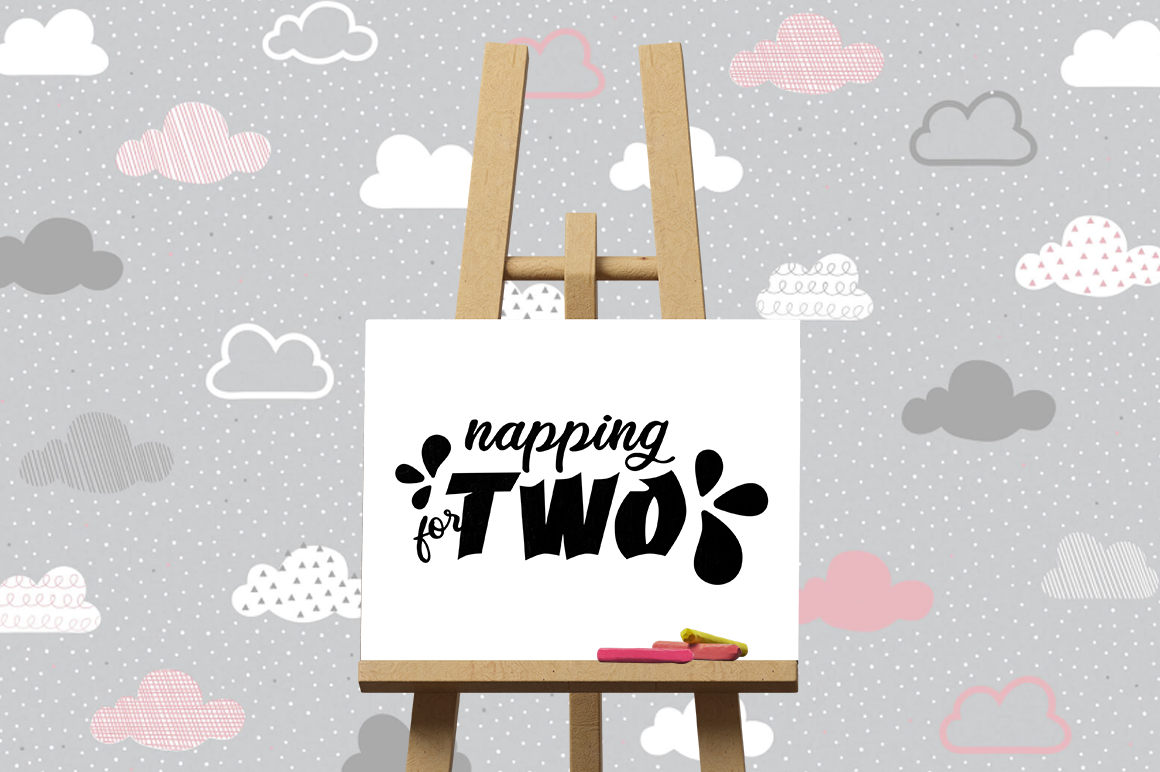 Pregnancy Announcement SVG Cut Files - Napping for two example image 3