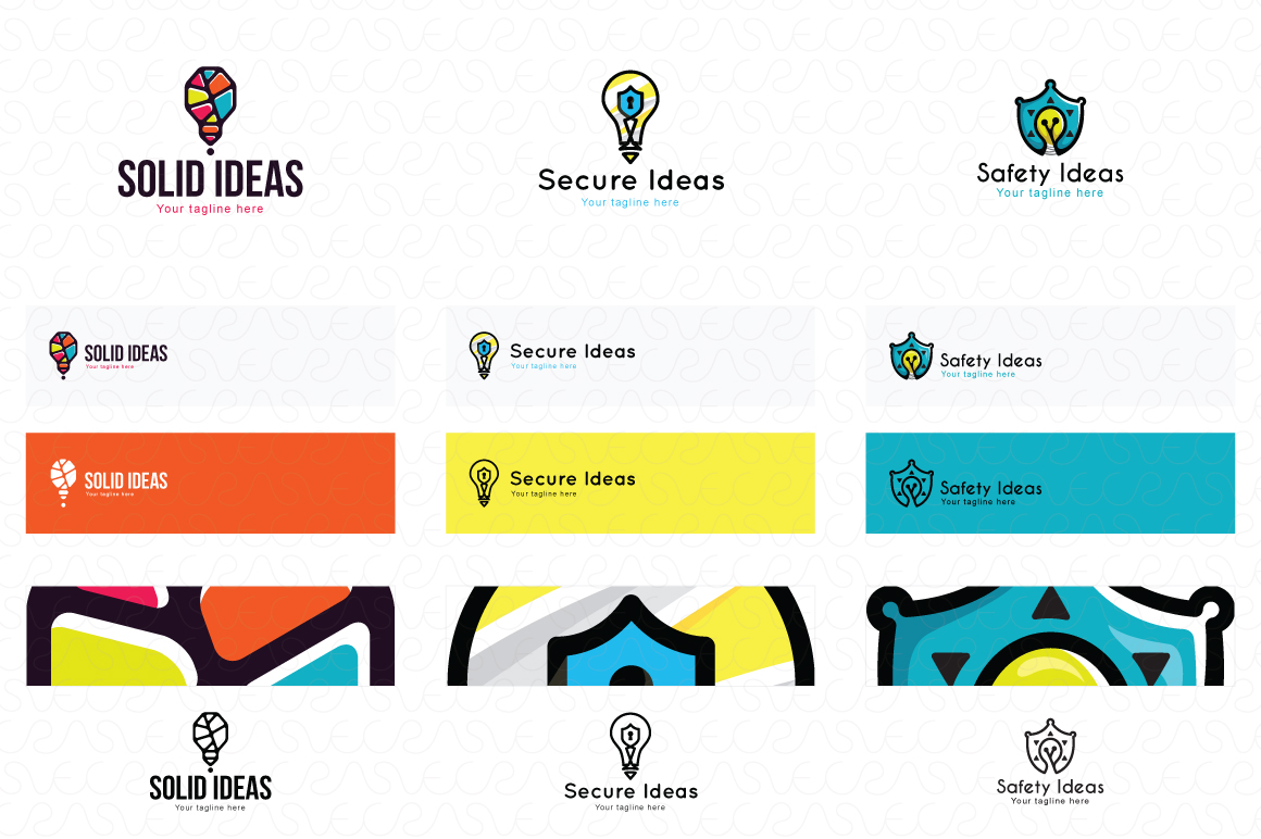 Ideas Bulb Logo Templates Pack of 13 Awesome unique designs example image 3