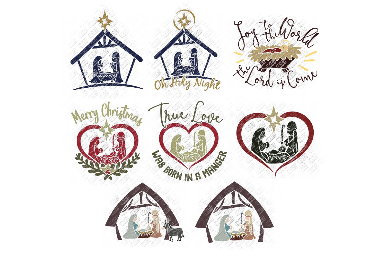 Nativity SVG Christmas Bundle in SVG, DXF, PNG, EPS, JPEG example image 2