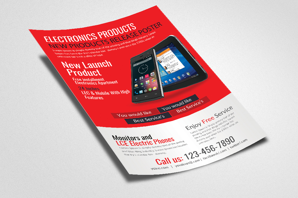 Electronic Product Promotion Flyer Template example image 2