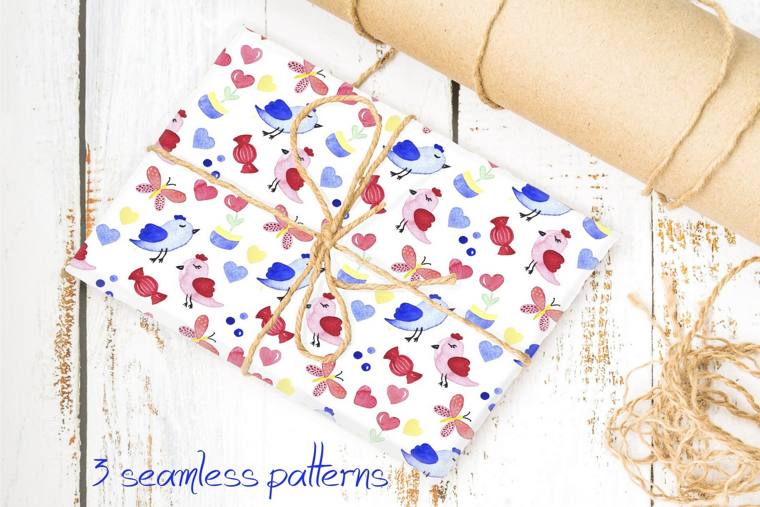 Love collection. Elements patterns example image 4