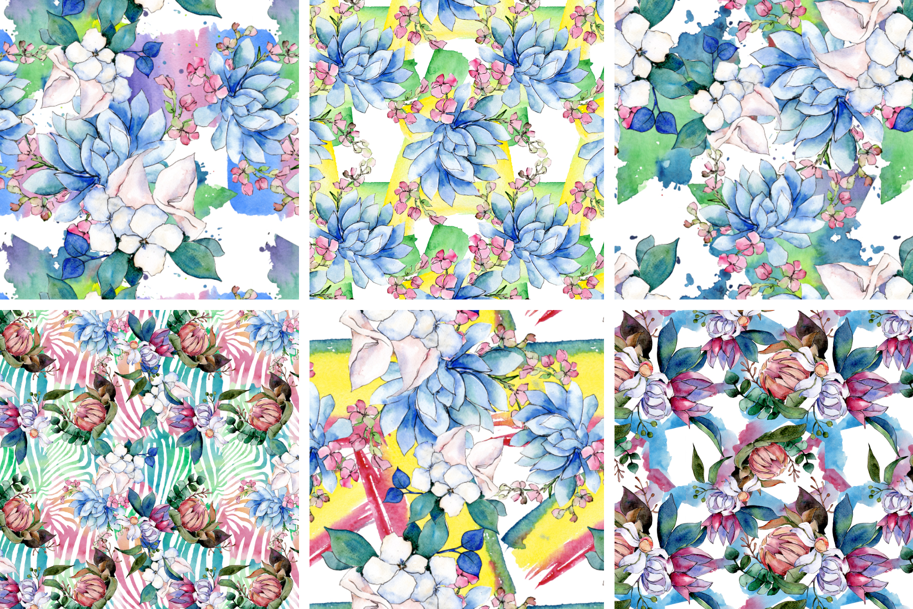 Bouquet of flowers bloom watercolor png example image 5