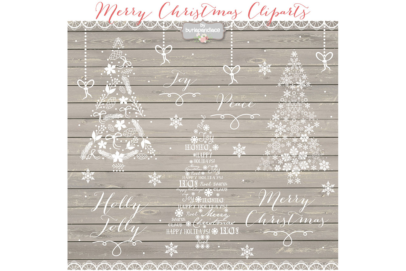 VECTOR Clipart christmas tree chalkboard clip arts example image 2