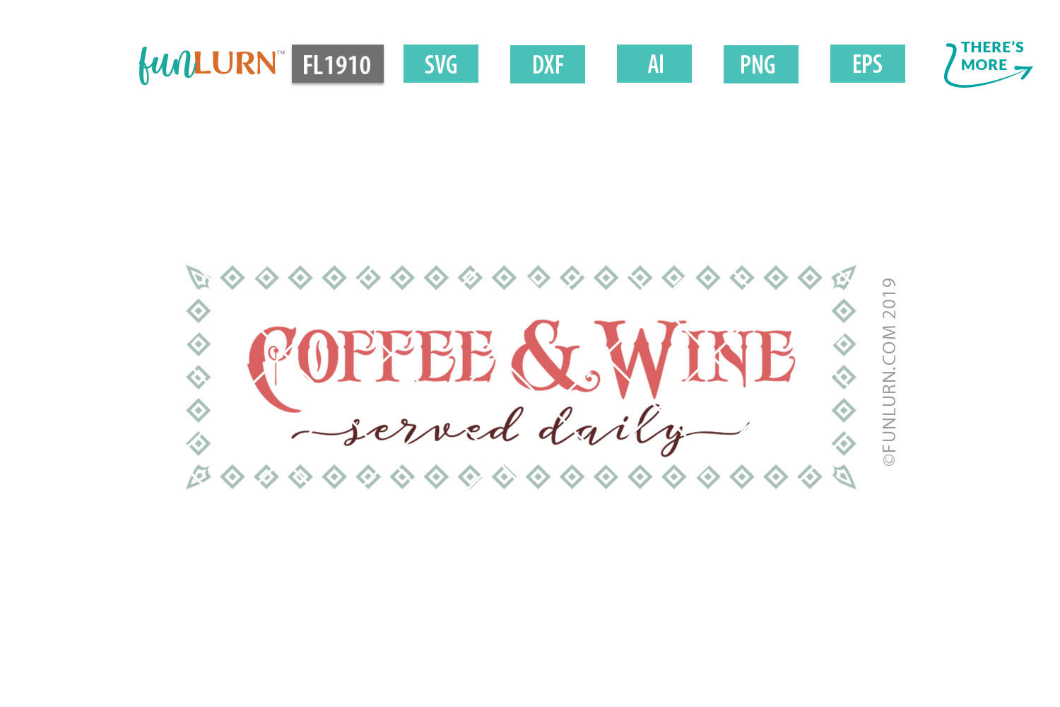 Coffee and Wine Served Daily SVG Cut File example image 2