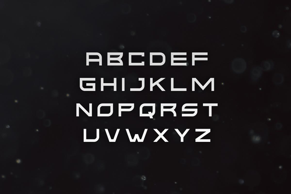 Kusanagi - Futuristic Font example image 2