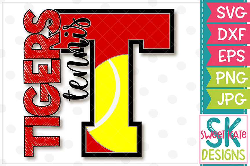 T Tigers Tennis SVG DXF EPS PNG JPG example image 4