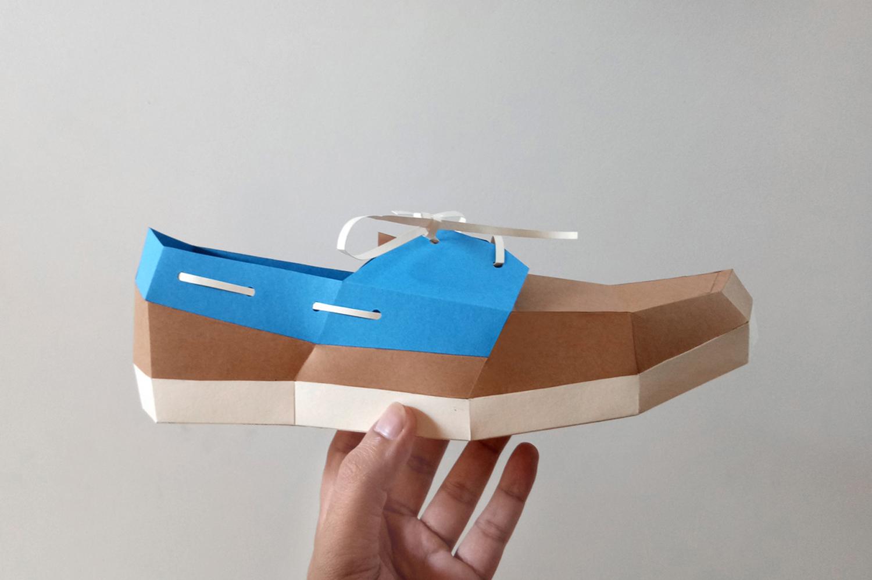 DIY Boat Shoe - 3d papercrafts example image 4