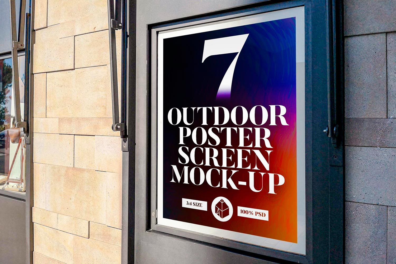 Outdoor Poster Screen Mock-Ups 2 example image 1