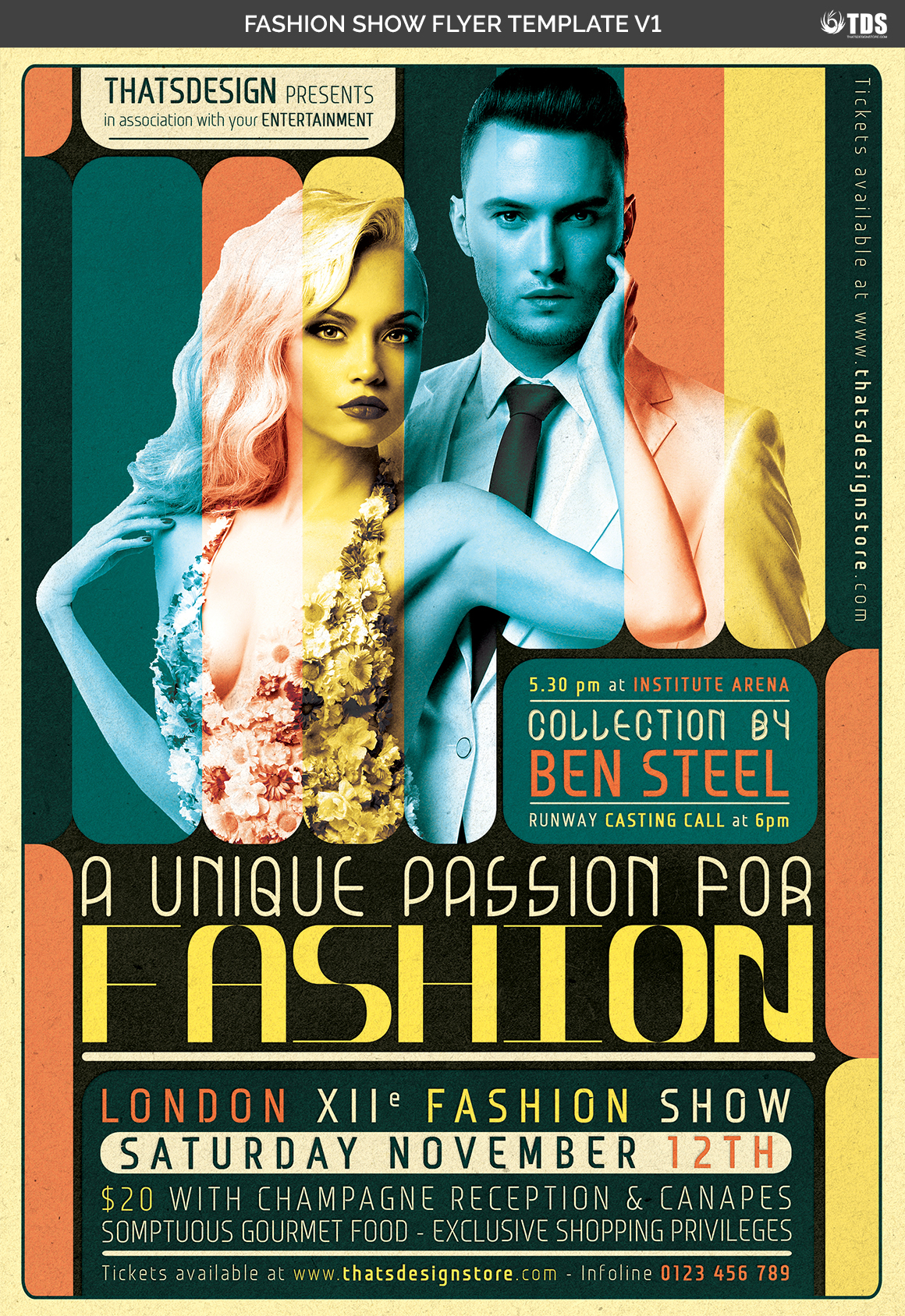 Fashion Show Flyer Template V1 example image 4