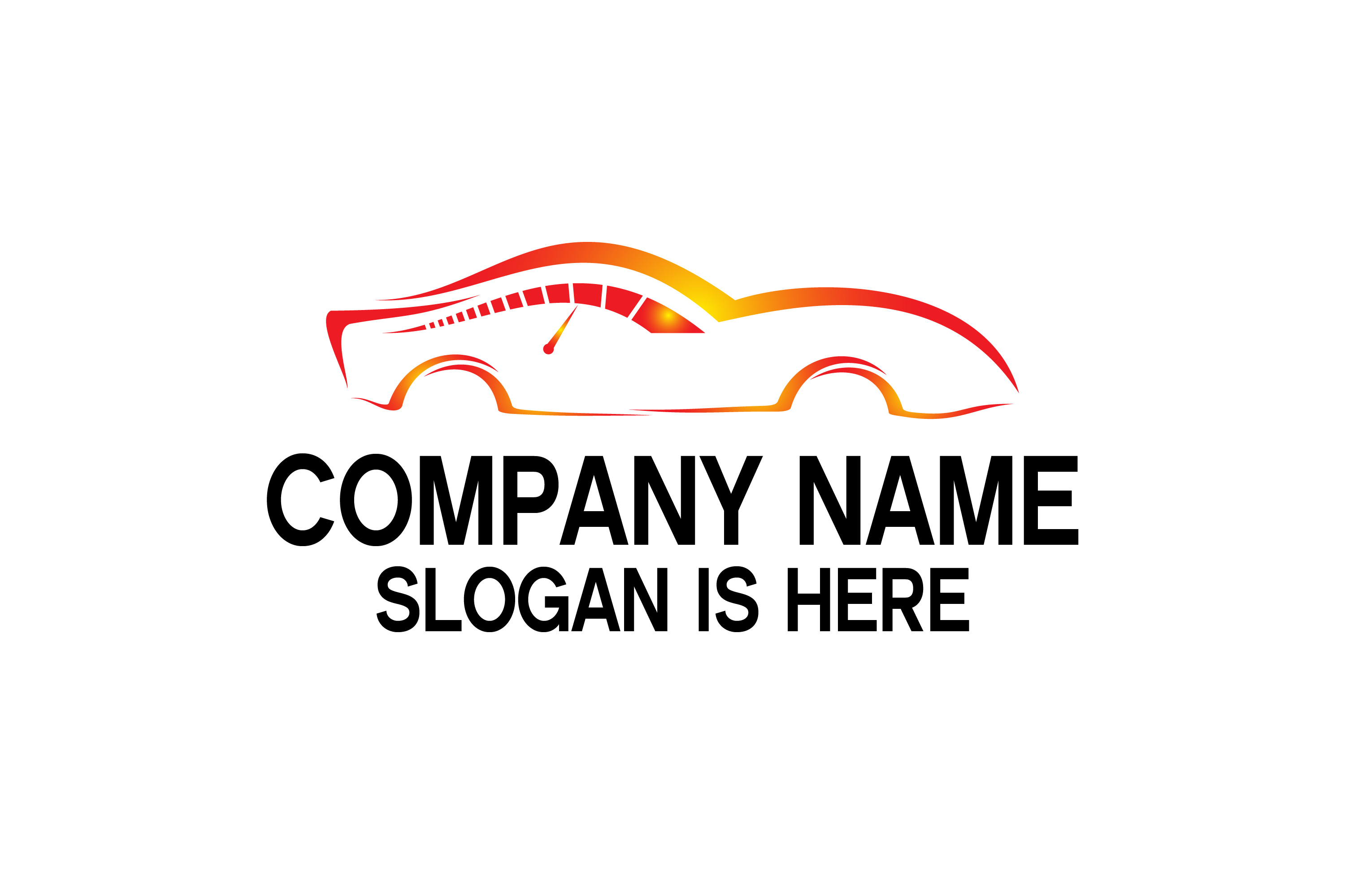 Car speed and Automotive logo design example image 4