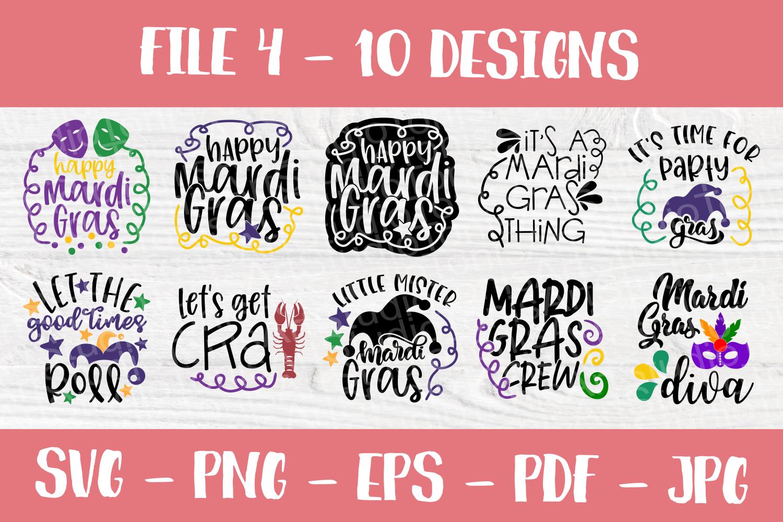 Mardi Gras SVG | SVG Bundle | Cut Files | T shirt Designs example image 5