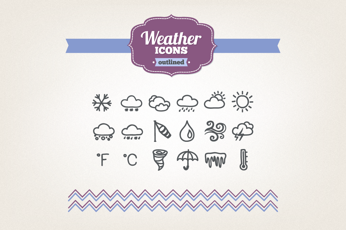 Hand Drawn Weather Icons example image 1