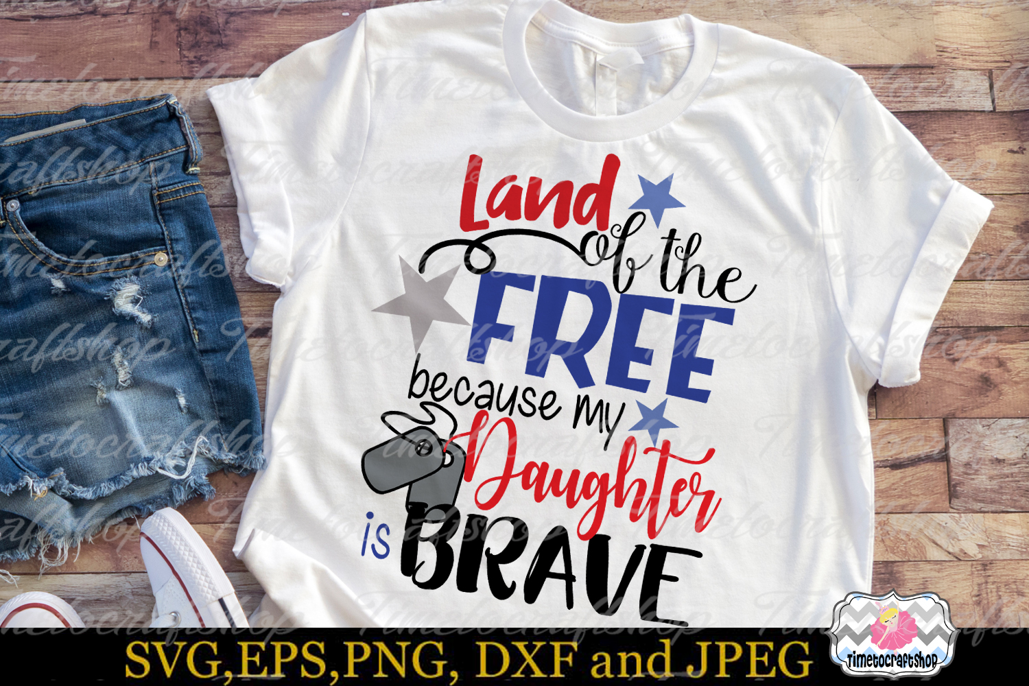 SVG, Dxf, Png Land of the Free Because of the Brave Bundle example image 6