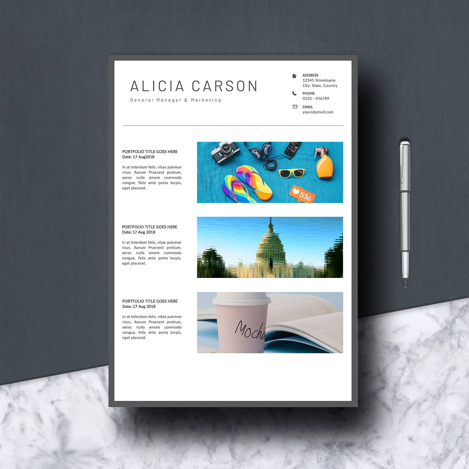 Resume Template 3 Pages example image 7