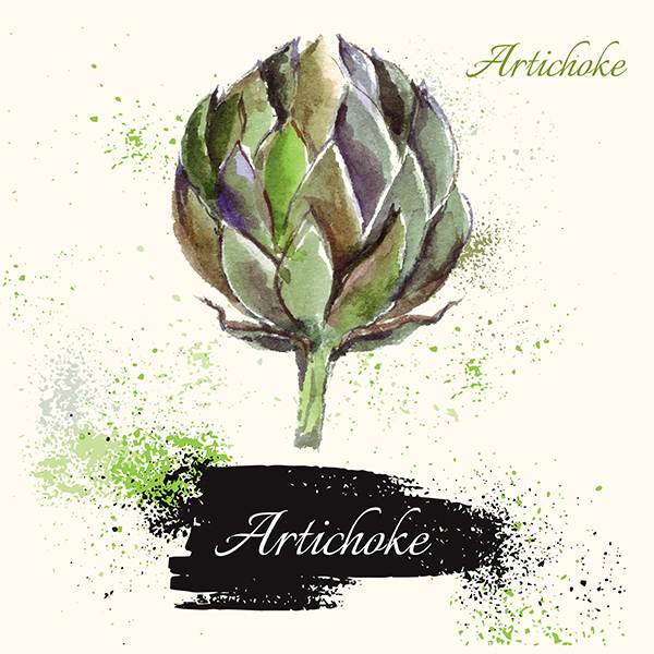 Watercolor vegetables & fruits example image 4