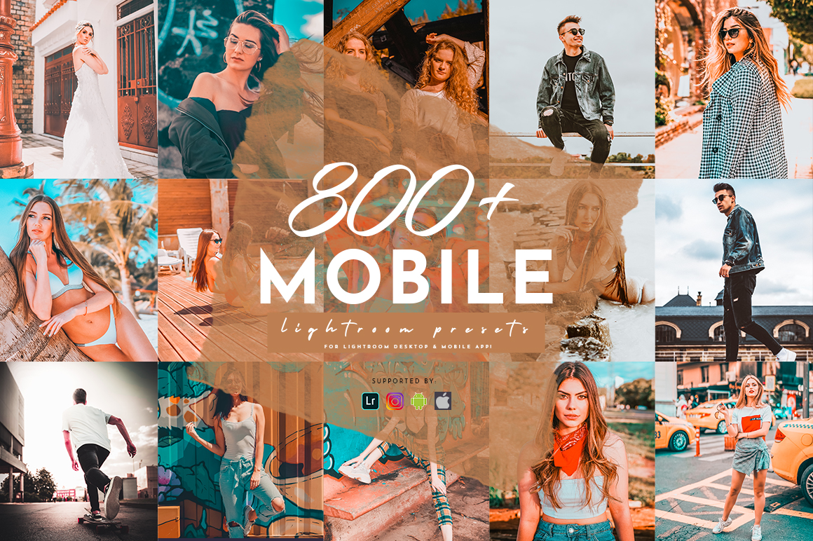 800 Plus Lightroom Mobile Presets Pack example image 1