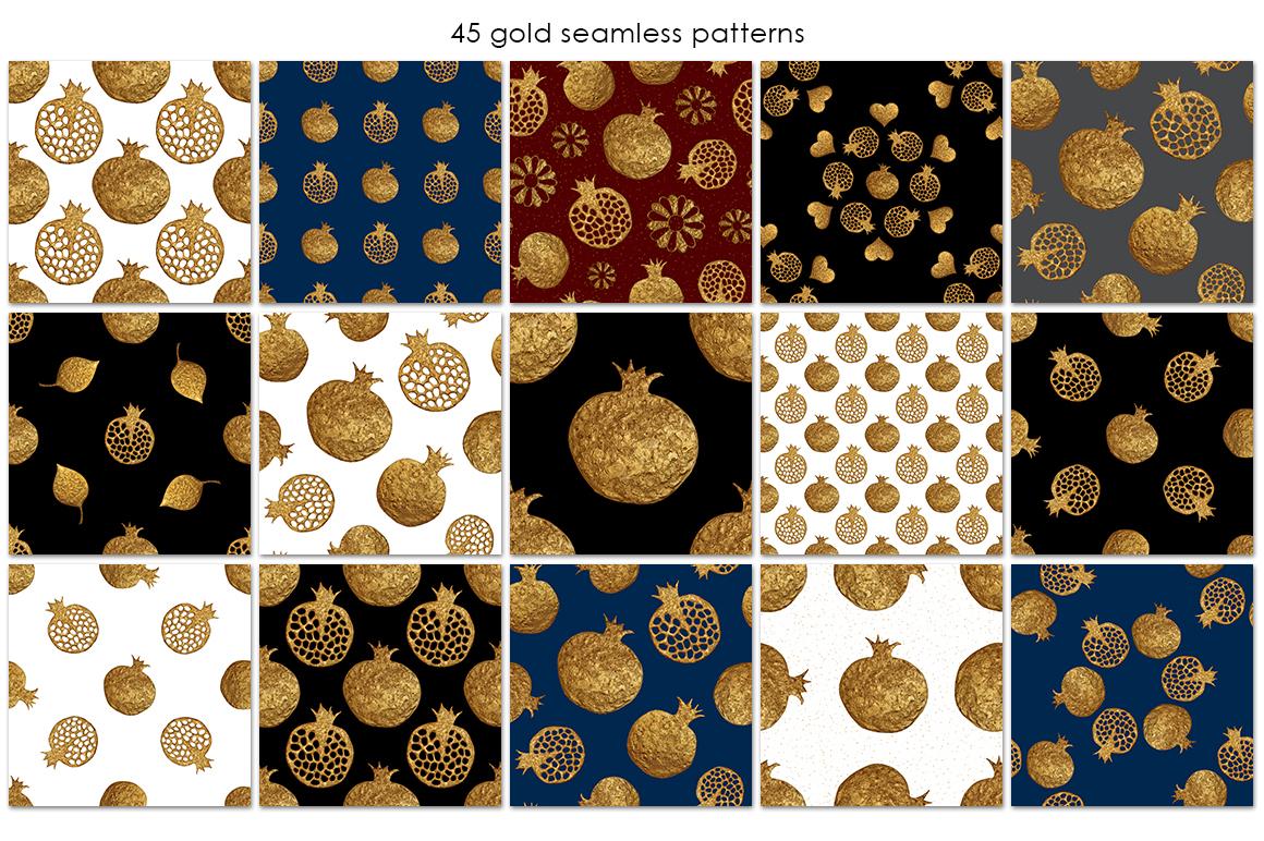 GOLD POMEGRANATE set example image 3