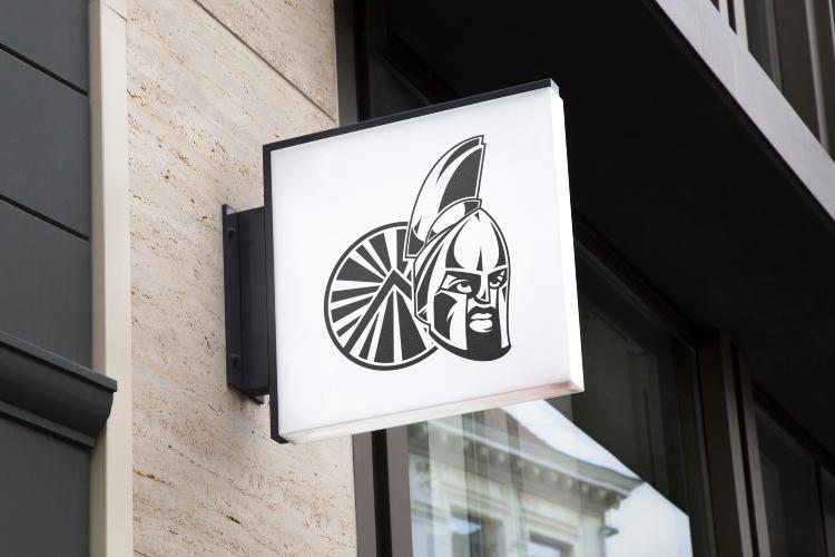 Spartan Warrior Helmet Logo example image 2
