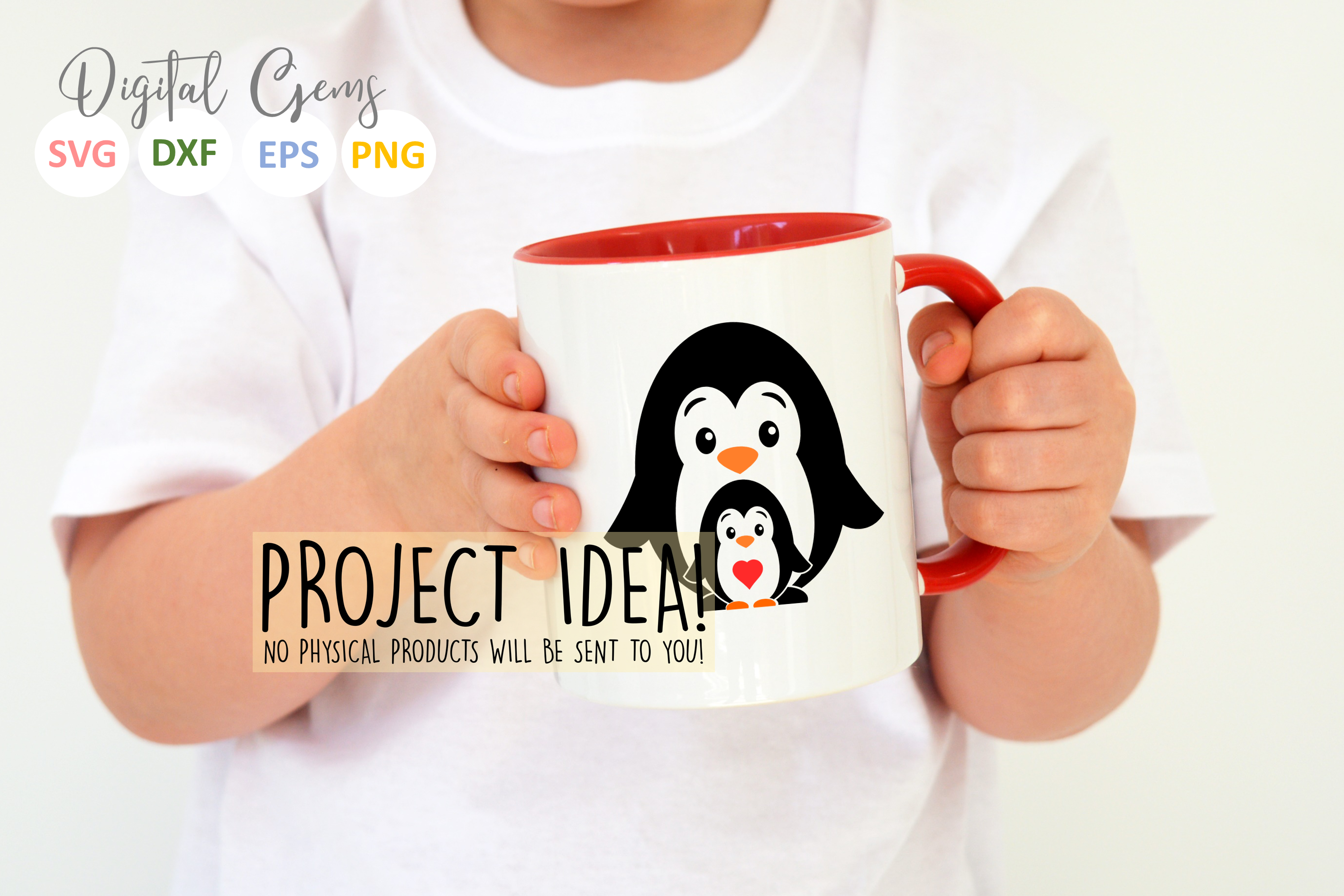 Penguin and baby design example image 4