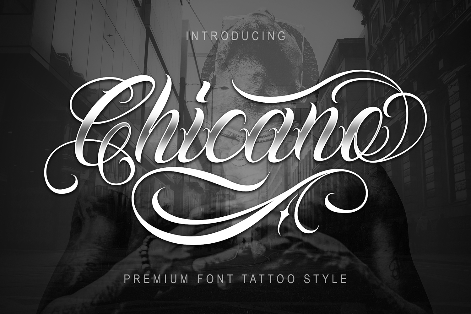 Chicano Font | Tattoo Style example image 1